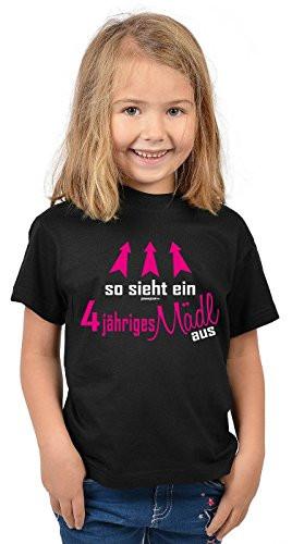 Geburtstagsgeschenk Mädchen 4 Jahre  Shirts in Schwarz von Veri für Mädchen