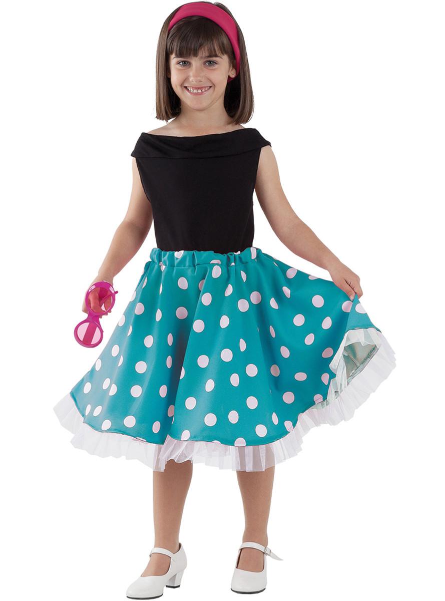 Geburtstagsgeschenk Mädchen 4 Jahre  50er Jahre Kostüm für Mädchen Classic