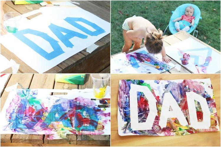 Geburtstagsgeschenk Papa Basteln  Vatertagsgeschenke basteln mit Kindern jedes Alters 17