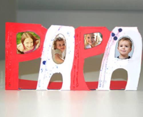 Geburtstagsgeschenk Papa Basteln  Basteln mit Kindern Kostenlose Bastelvorlage Vatertag