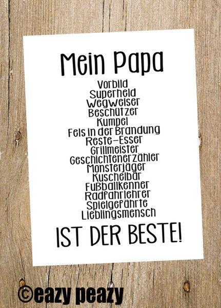 Geburtstagsgeschenk Papa  Glückwunschkarten ★ Mein PAPA ist der BESTE ★ Postkarte