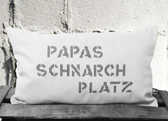 Geburtstagsgeschenk Papa  Ähnliche Artikel wie Kissen Papas Schnarchplatz