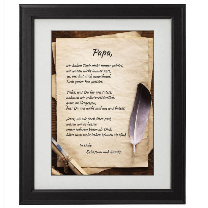 Geburtstagsgeschenk Papa  Vaterliebe personalisiertes Bild extra für Deinen Papa