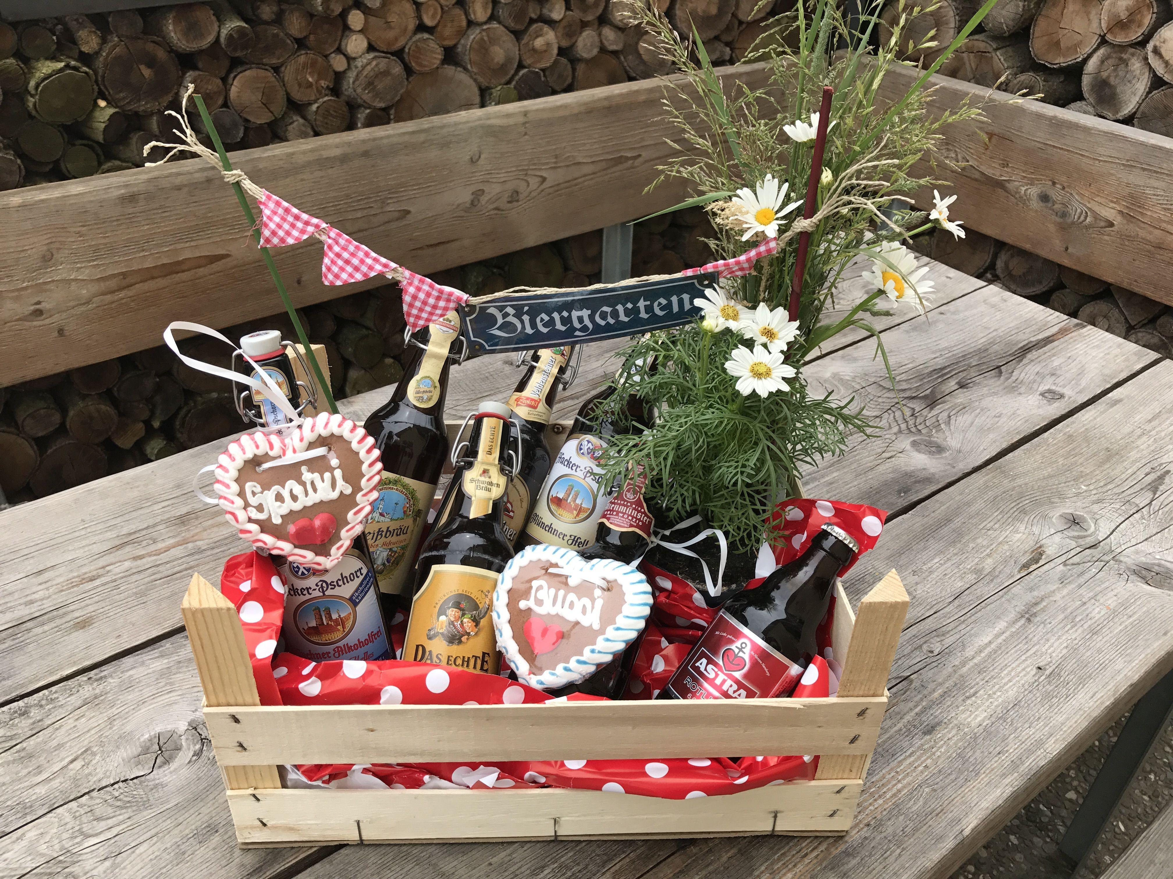 Geburtstagsgeschenk Schwiegermutter  Bildergebnis für geschenke korb biergarten