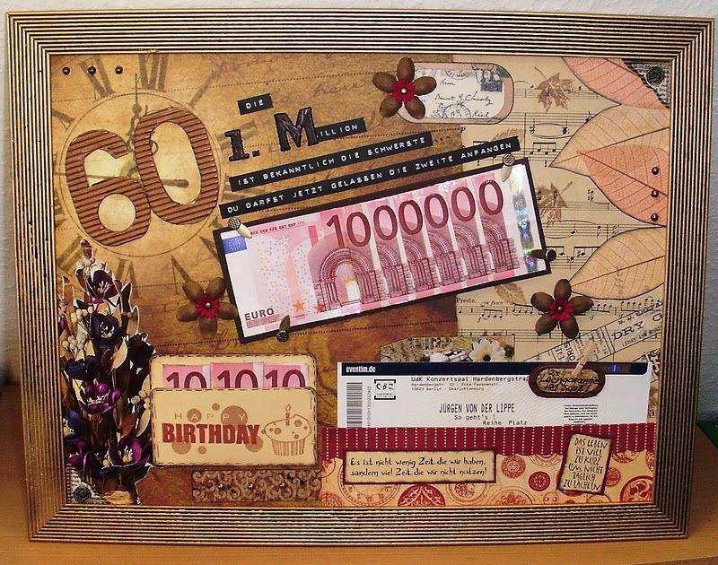 Geburtstagsgeschenk Zum 60  Mamapias Stempelecke Die erste Million zum 60