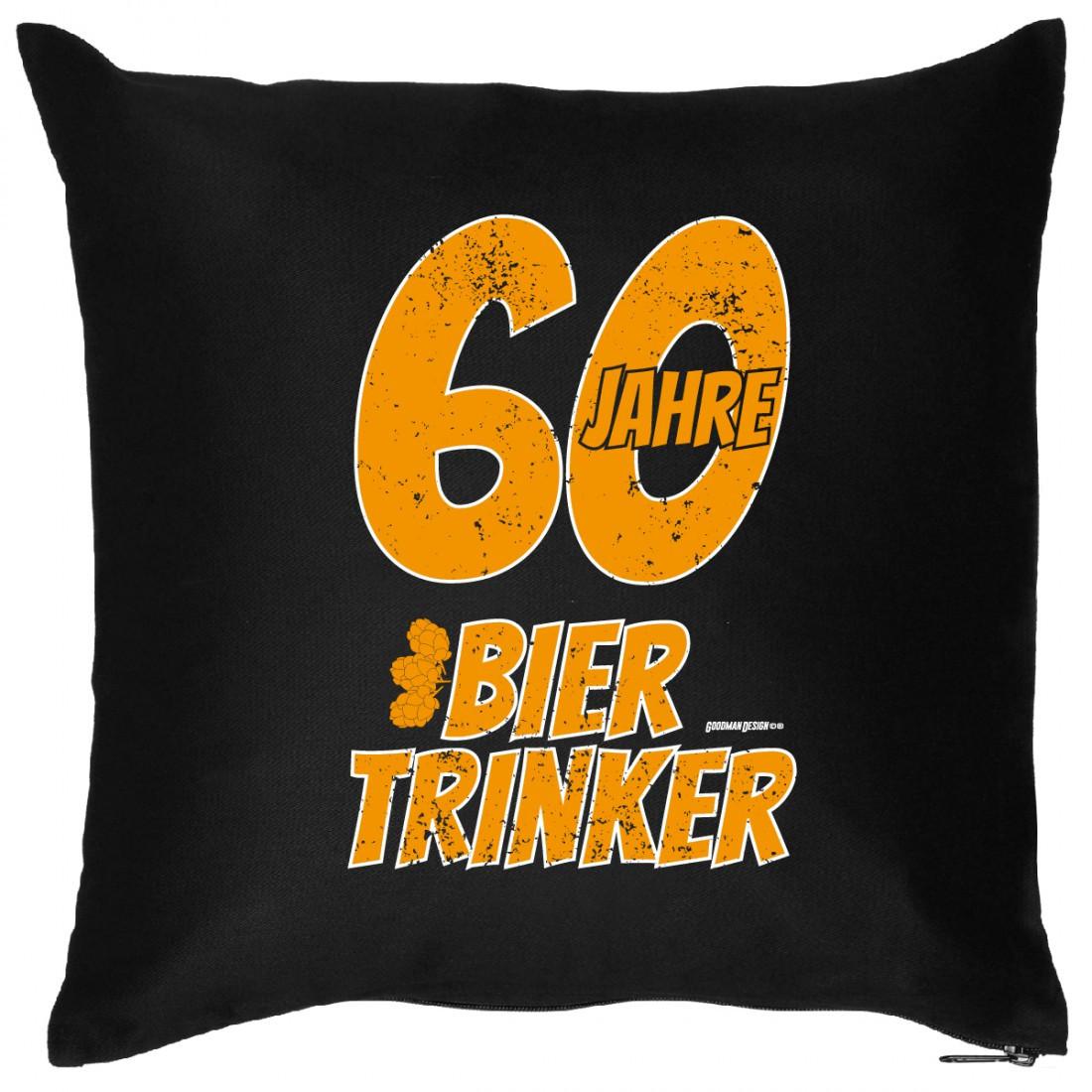 Geburtstagsgeschenk Zum 60  Sofakissen 60 Geburtstag 60 Jahre Bier Trinker lustig