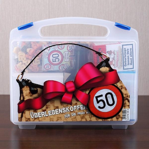 Geburtstagsgeschenke Frau  Überlebenskoffer für Frauen zum 50