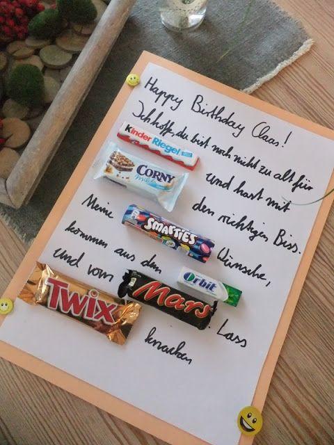 Geburtstagsgeschenke Freund  DIY Nähen Upcycling kleine Geschenke