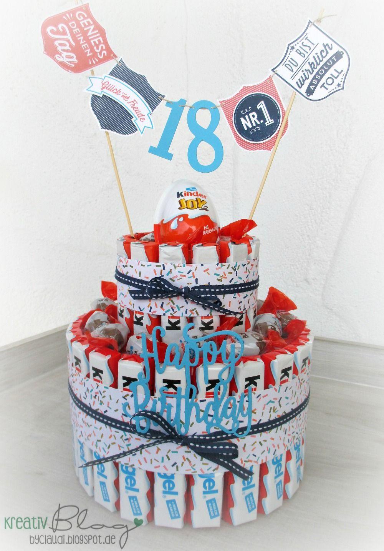 Geburtstagsgeschenke Für Jungs  Zum 18 Geburtstag für einen Kinderschokoladen Liebhaber