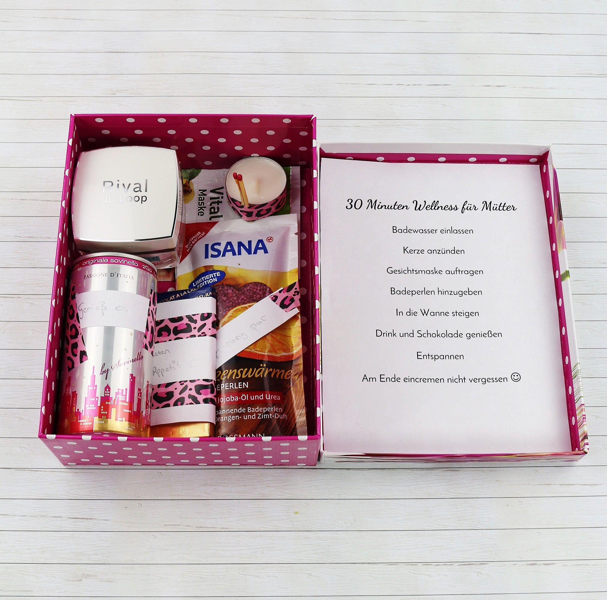 Geburtstagsgeschenke Für Mama Diy  Schöne DIY Geschenkidee für Frauen Wellness Paket