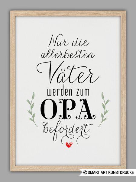 """Geburtstagsgeschenke Für Papa  Originaldruck """"PAPA und OPA"""" Kunstdruck Vatertag"""