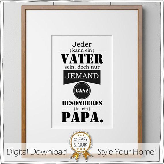 Geburtstagsgeschenke Für Papa  Wandbild für Papa Vatertagsgeschenk Vatertag Geschenk zum
