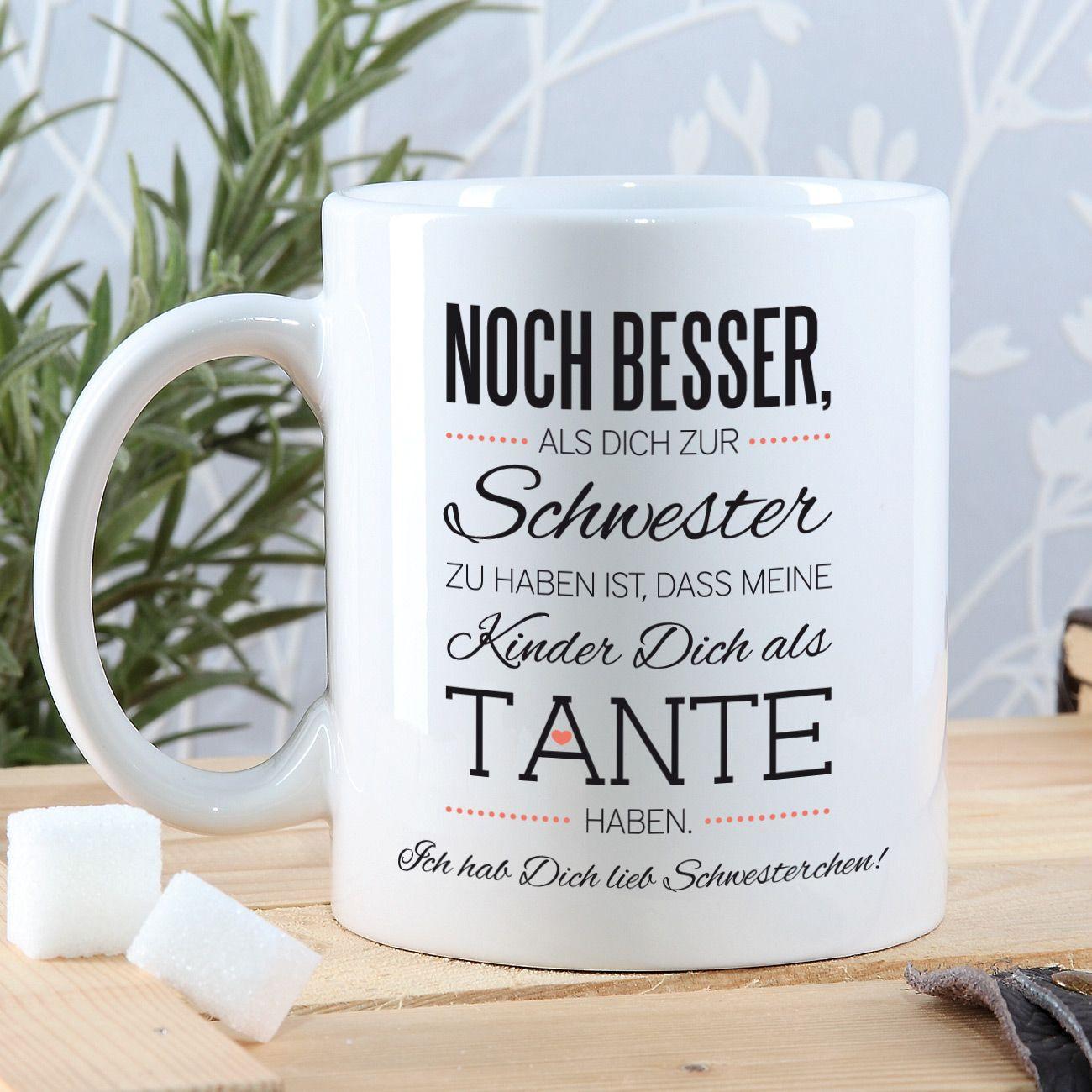 Geburtstagsgeschenke Für Schwester  Tasse für beste Schwester und Tante mit Spruch und