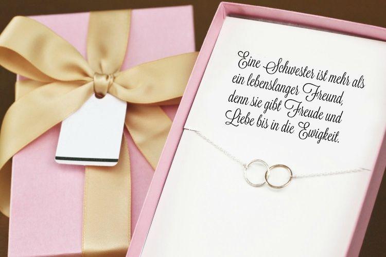 Geburtstagsgeschenke Für Schwester  Hochzeitsgeschenk für Schwester oder Beste Freundin