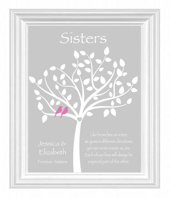 Geburtstagsgeschenke Für Schwester  Schwester Geschenk personalisierte Geschenk für Schwester