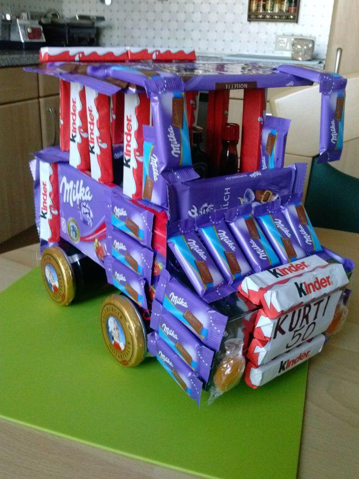 Geburtstagsgeschenke Kinder  2 ränkedosen magenbitterfläschchen und süßigkeiten