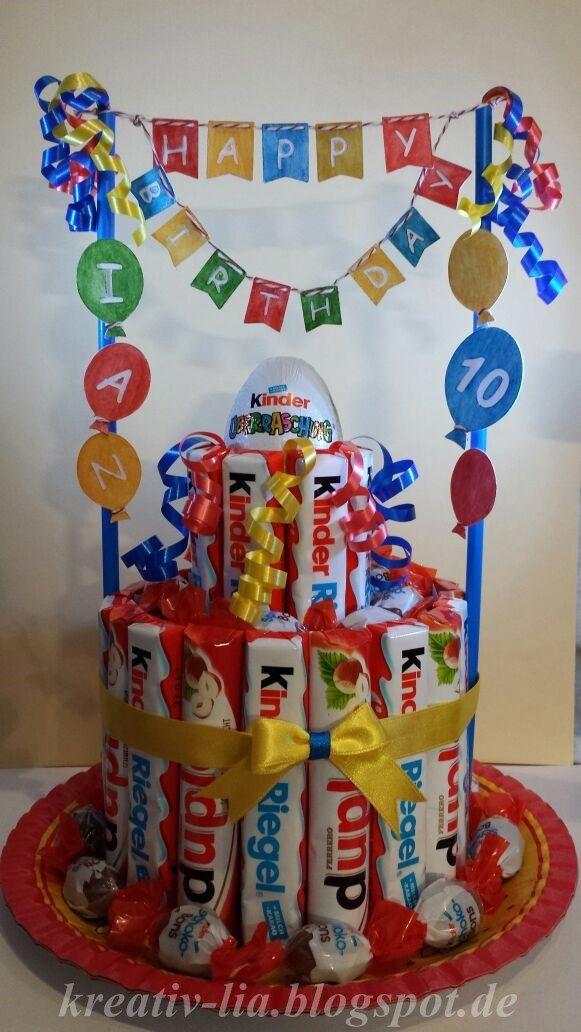 Geburtstagsgeschenke Kinder  Die besten 25 Kinderriegel torte Ideen auf Pinterest