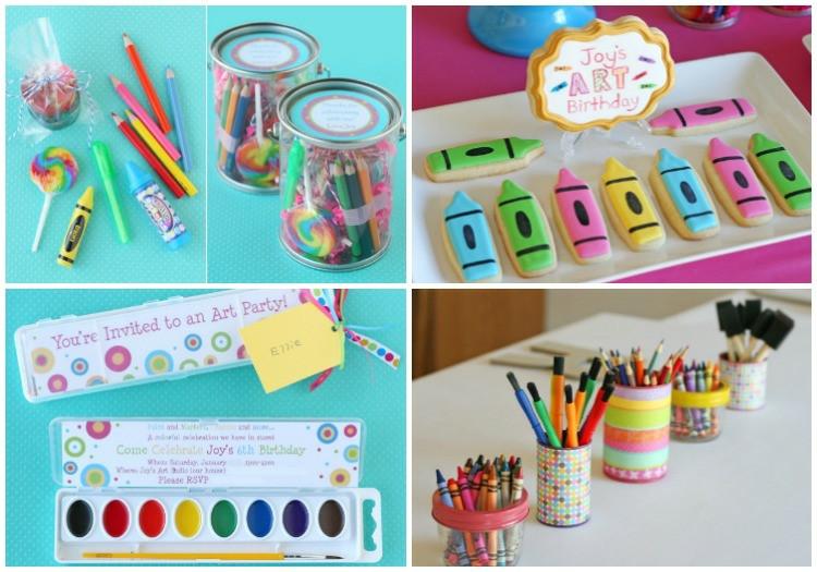 Geburtstagsgeschenke Kinder  Mitgebsel für Kindergeburtstag basteln 18 Geschenkideen
