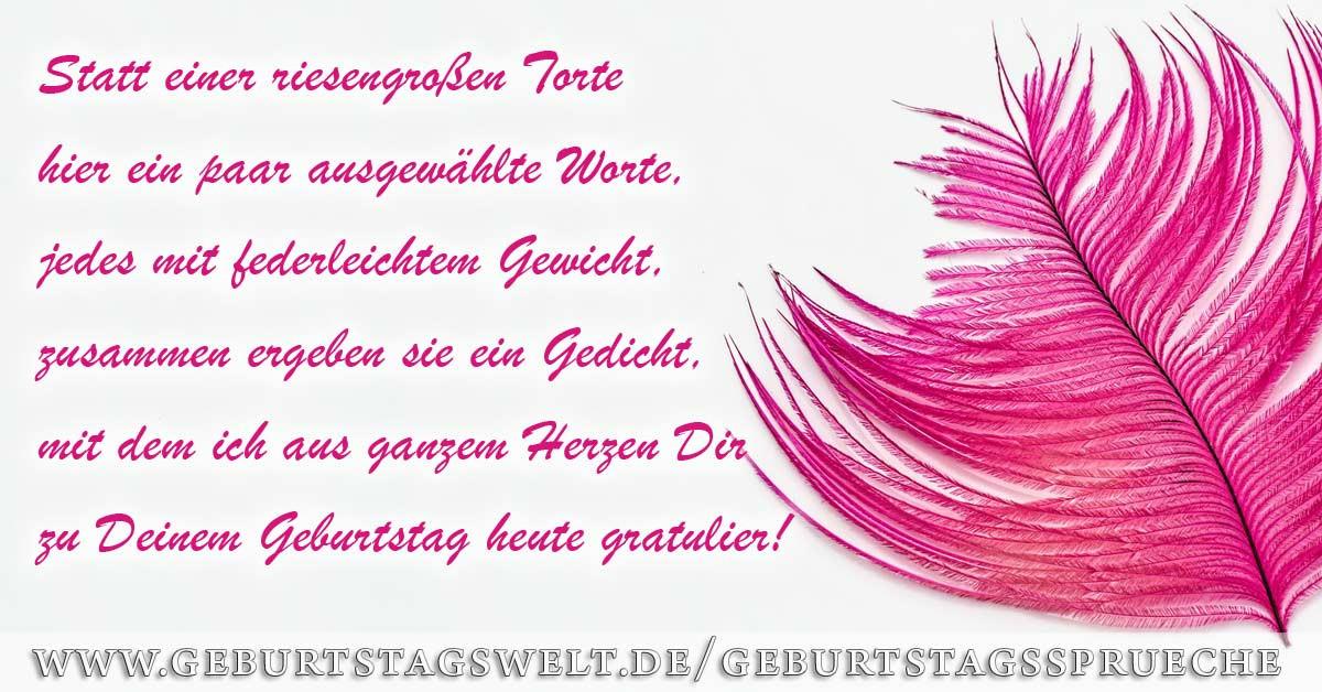 Geburtstagsglückwünsche 40  l Geburtstagswünsche für Frauen Grüße und Sprüche zum