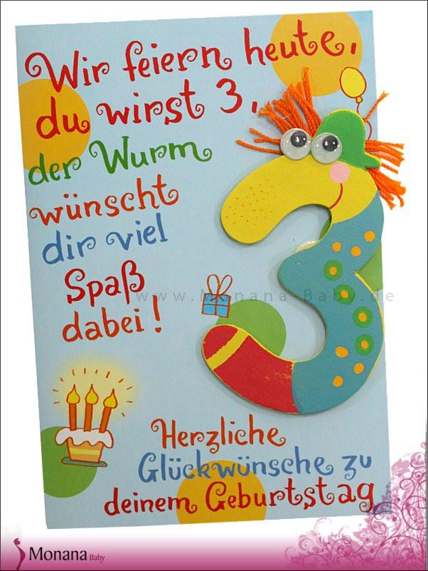 Geburtstagsglückwünsche Kinder  Wünsche Zum Dritten Geburtstag