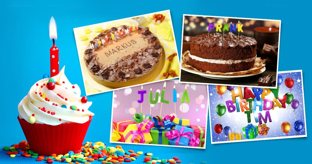 Geburtstagsglückwünsche Kinder  Geburtstagsbilder mit Namen kostenlos erstellen