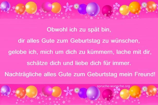Geburtstagsgruß Freundin  Nachträgliche Geburtstagswünsche Grüße Bilder