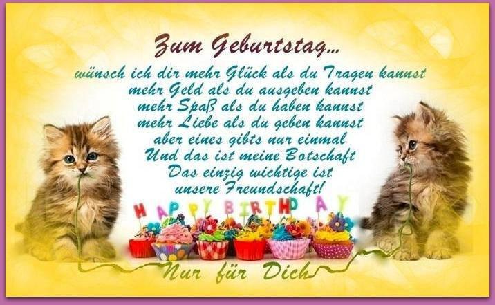 Geburtstagsgruß Freundin  150 Geburtstagsbilder von Tiere Alles Liebe zum Geburtstag