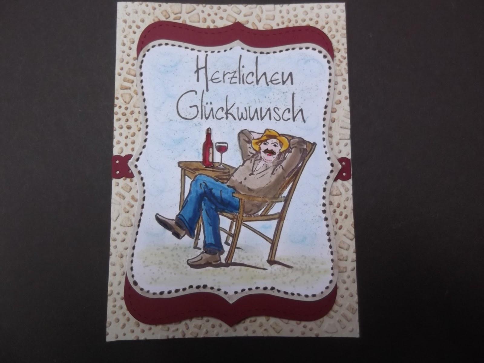 Geburtstagsgruß Für Mann  Sconebeker Stempelscheune Geburtstagskarte für einen Mann