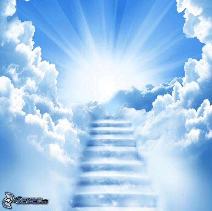 Geburtstagsgruß In Den Himmel  Treppen in den Himmel