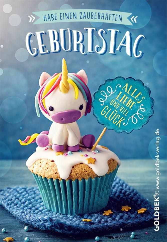 Geburtstagsgruß Kind  Postkarten Einhorn Einfach zauberhaft