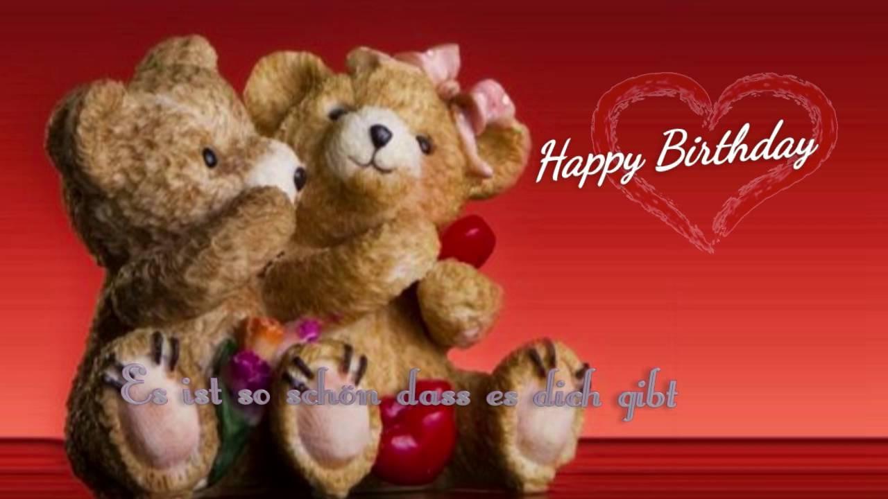 Geburtstagsgruß Lustig  Geburtstagslied romantisch Happy Happy Birthday