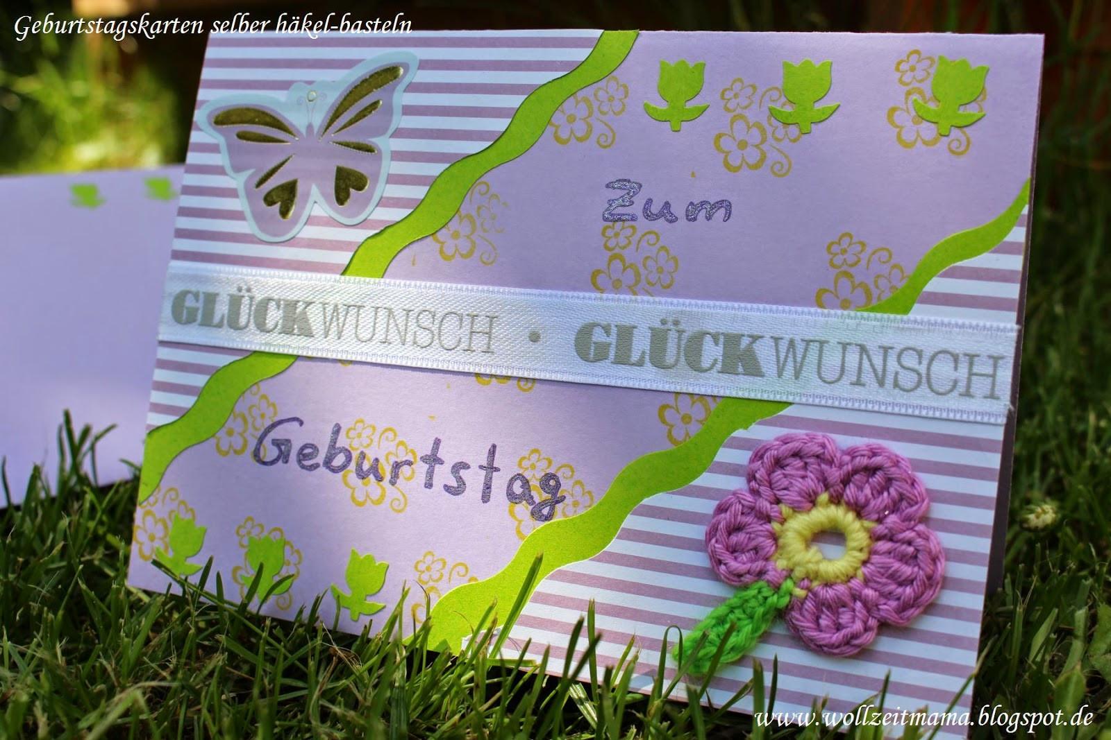 Geburtstagskarten  Wollzeitmama Geburtstagskarten und Gutschein selber