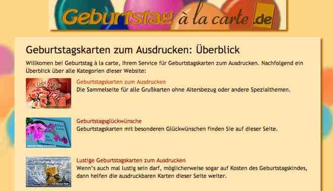 Geburtstagskarten Ausdrucken  Geburtstagskarten zum gratis ausdrucken – Linkorama