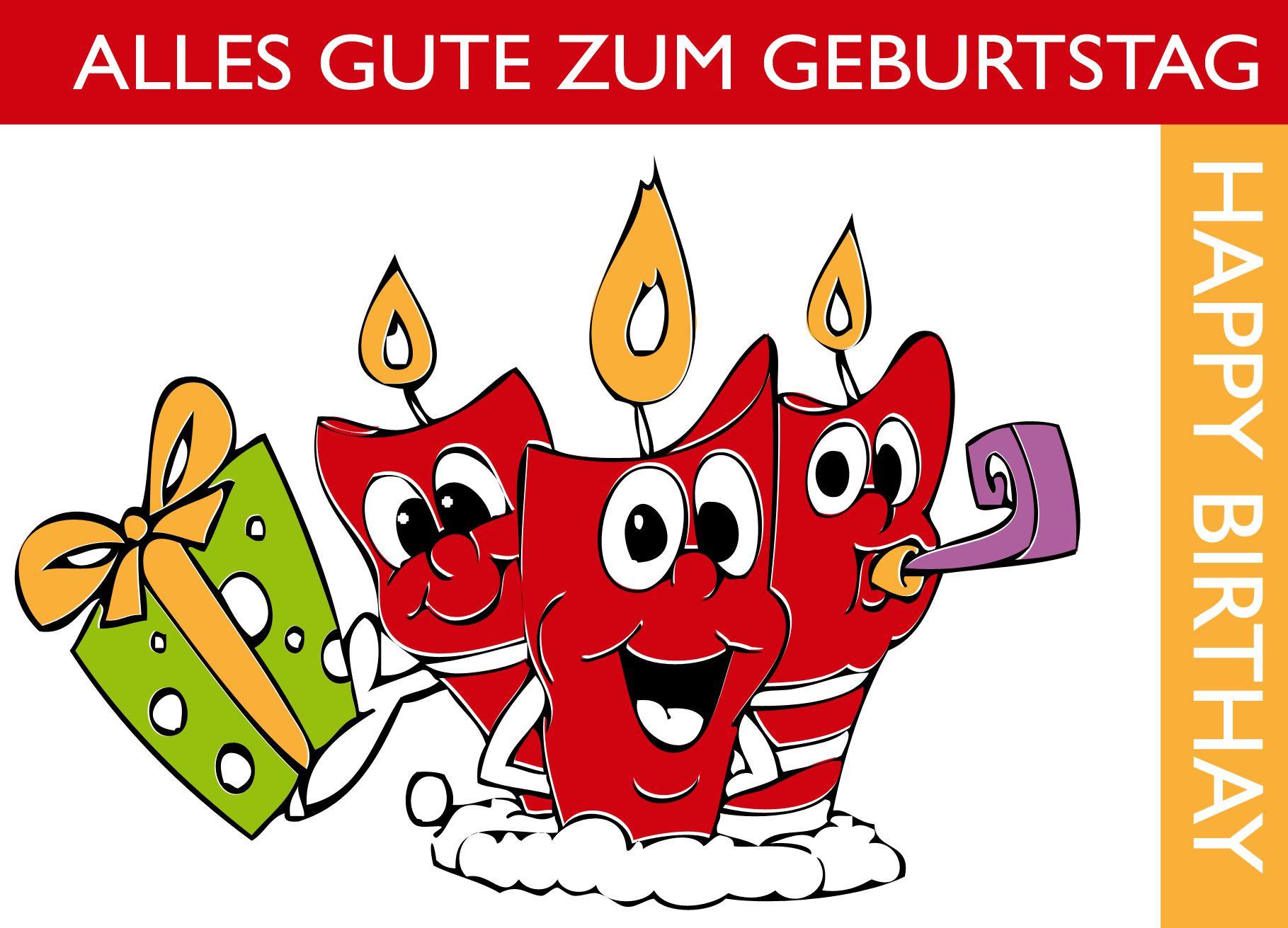 Geburtstagskarten Ausdrucken  Alles Alles Gute Zum Geburtstag Spanisch