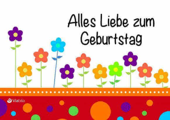 Geburtstagskarten Bilder  Liebevolle Geburtstagskarten kostenlos zum Ausdrucken