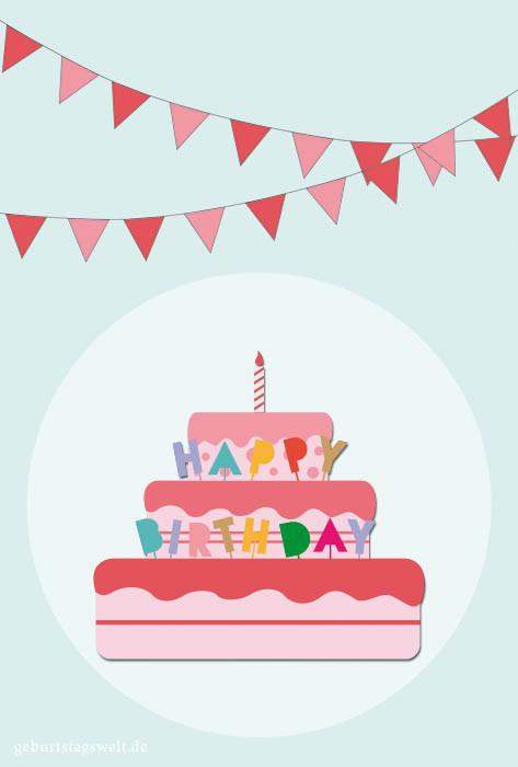 Geburtstagskarten Bilder  Geburtstagskarten Kostenlose Vorlagen zum Ausdrucken und