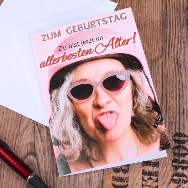 Geburtstagskarten Für Frauen  Geburtstagskarte für Frau im allerbesten Alter