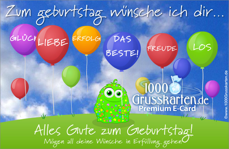 Geburtstagskarten Gratis  Animierte Geburtstagskarte Geburtstag E Cards