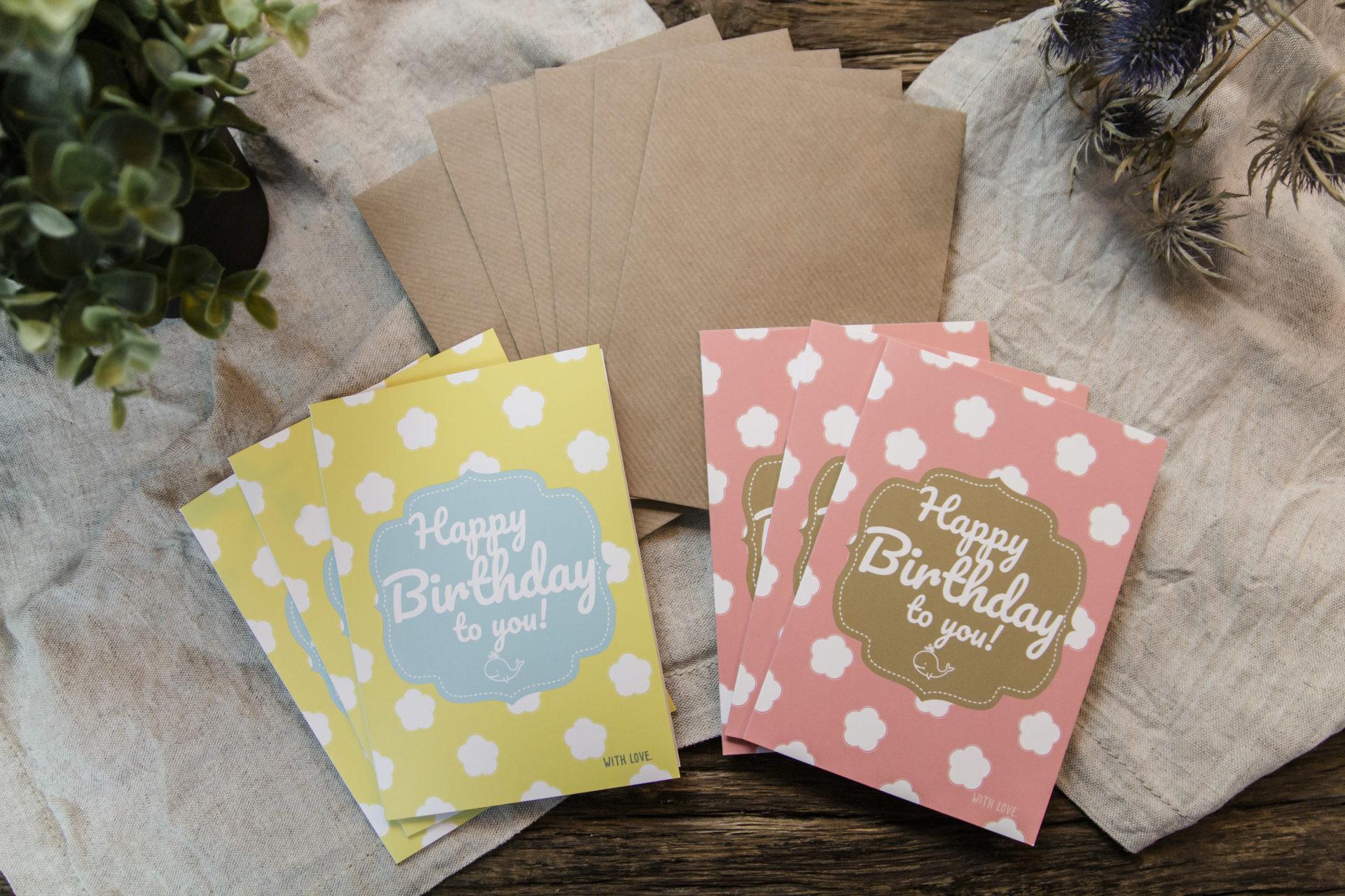 Geburtstagskarten Kaufen  Hochwertige und stylische Geburtstagskarten inkl