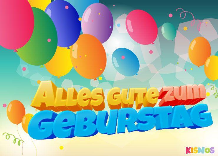 Geburtstagskarten Kostenlos Herunterladen  Geburtstagskarte bunte Luftballons herunterladen
