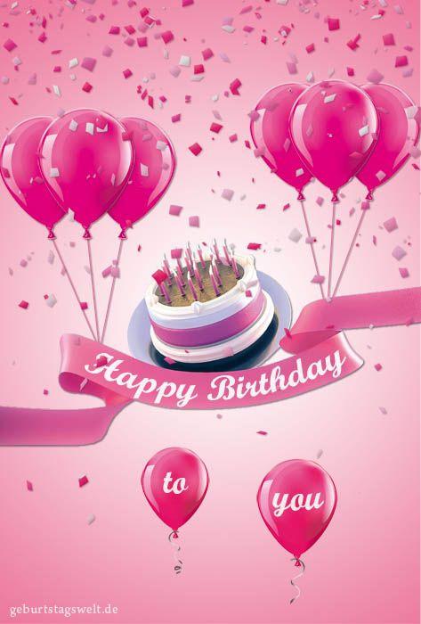 Geburtstagskarten Kostenlos Versenden  Geburtstagskarten Kostenlose Vorlagen zum Ausdrucken und