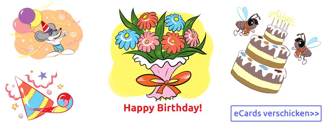 Geburtstagskarten Kostenlos Versenden  eCards Grußkarten Glückwunschkarten kostenlos online zum