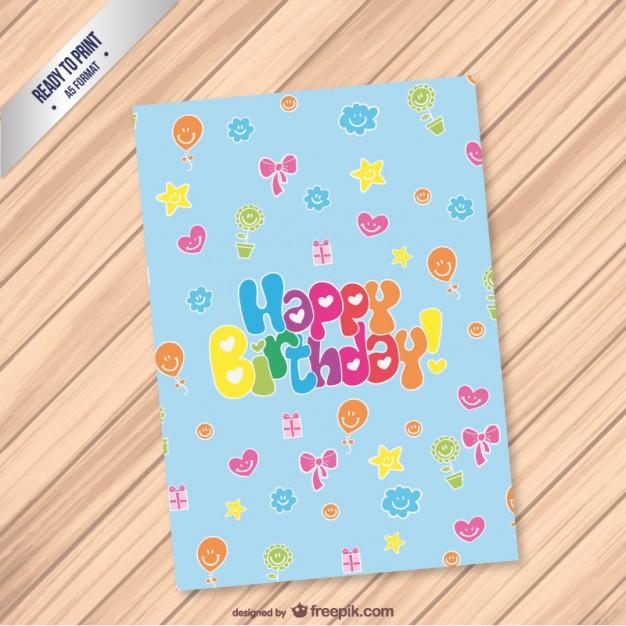 Geburtstagskarten Kostenlos Zum Ausdrucken  Bereit zum geburtstagskarte ausdrucken