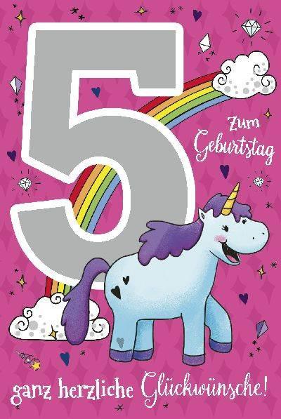 Geburtstagskarten Mit Musik  Depesche Geburtstagskarte 5 Geburtstag mit Musik