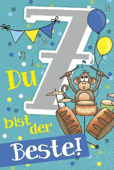 Geburtstagskarten Mit Musik  Depesche Geburtstagskarte 7 Geburtstag mit Musik