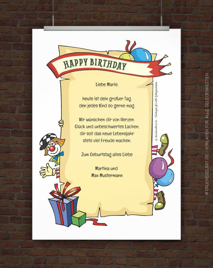 Geburtstagskarten Selber Drucken  gutscheine selbst gestalten kostenlos ausdrucken