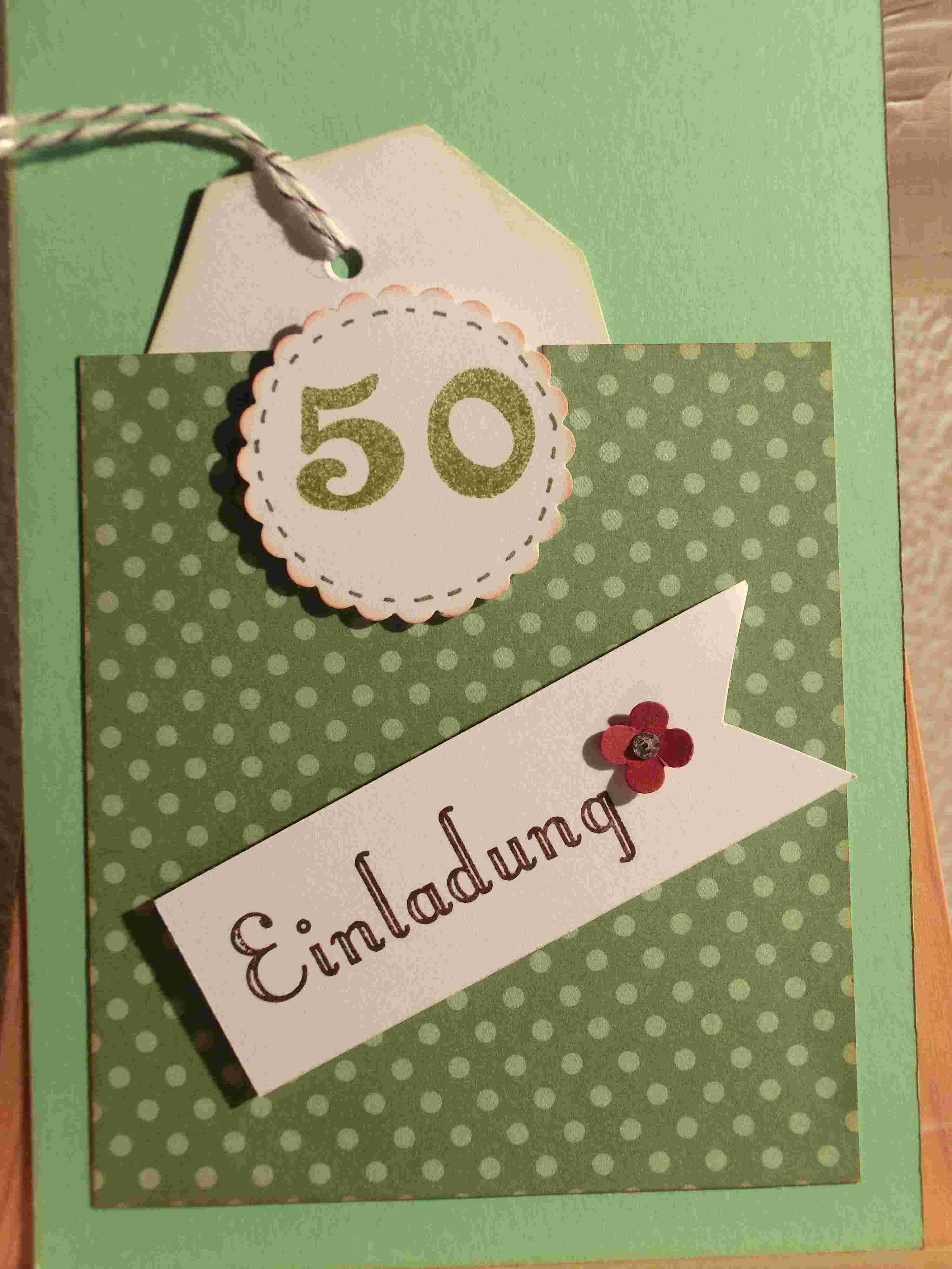 Geburtstagskarten Selber Drucken  Einladungen 50 Geburtstag