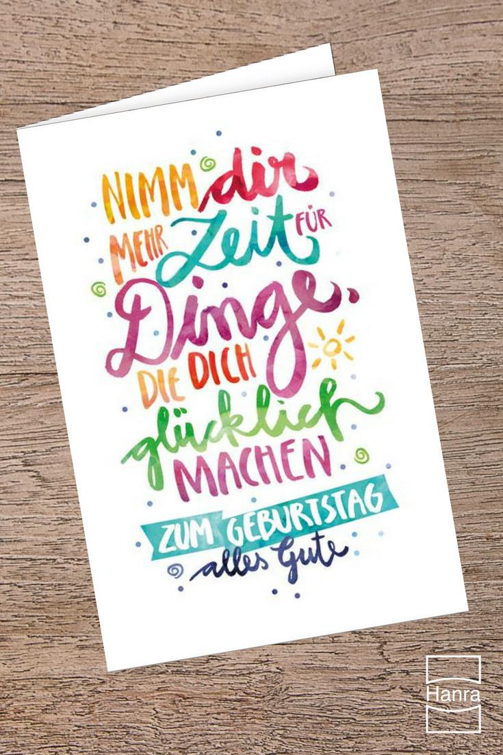 Geburtstagskarten Text  Geburtstag Kalligraphie