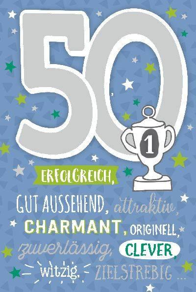 Geburtstagskarten Zum 50  Depesche Geburtstagskarte 50 Geburtstag mit Musik Blau