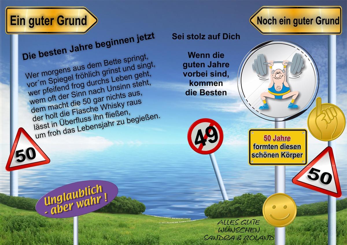 Geburtstagskarten Zum 50  Geburtstagskarte zum 50´sten innen Foto & Bild